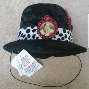 NWT Disney Parks Mini Cruelle deVille top hat